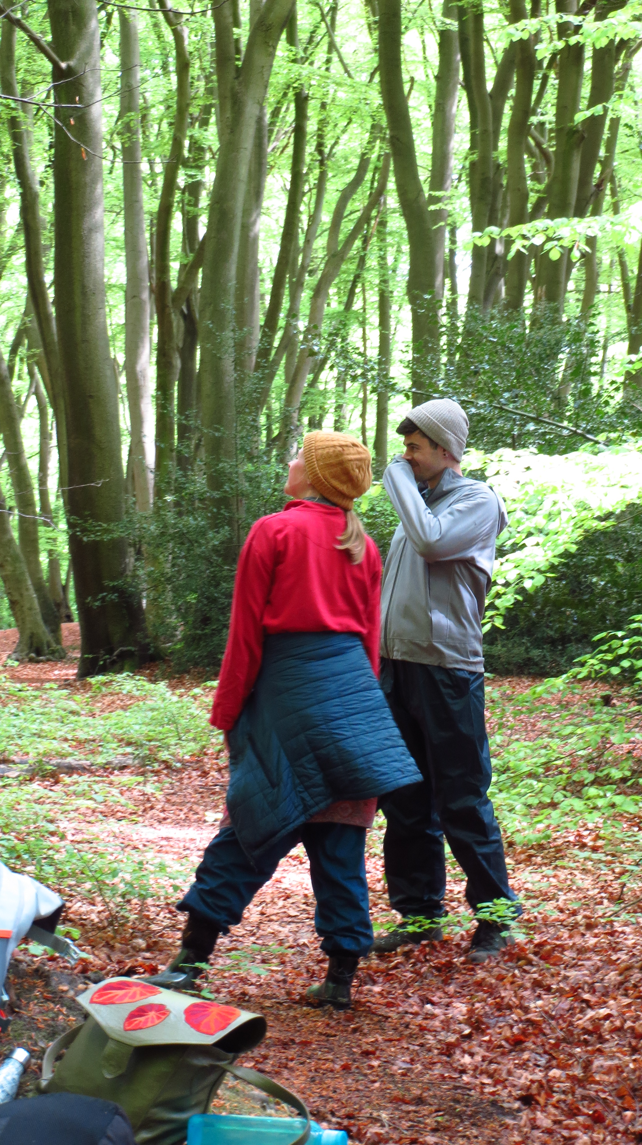 talking in the forest